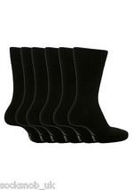 6 Pack Mens Sockshop BIGFOOT Gentle Grip Socks Size 12-14 Uk, 46-50 Eur Black  - $12.51