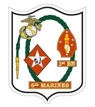 USMC 1st Battalion 6th Marines Sticker - $9.89