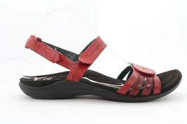 Abeo Brynn Sandals Red Women's Size US 7 Post Footbed (EP) 4297 - £72.49 GBP