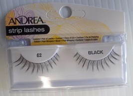 Andrea's Strip Lashes Fashion Eye Lash Style 62 Black (Pack of 6) - $21.98