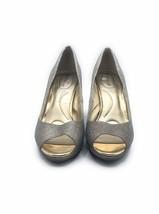 BANDOLINO Sparkling Gold Bling BD Supermodel Open Toe Heels Size 10 New - $48.23