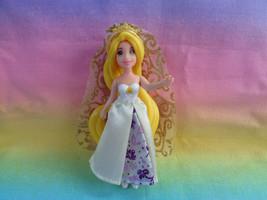 Disney Tangled Rapunzel Polly Pocket Size Doll Fabric Wedding Dress & Veil - $5.20