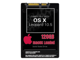 macOS Mac OS X 10.5 Leopard Preloaded on 120GB Solid State Drive - $39.99