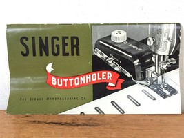 Vintage 1948 Singer Sewing Machine Buttonholer User Instruction Manual B... - $23.99