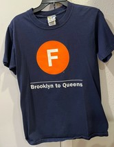 F Subway New York NY Small Tee Shirt  T Dark Blue - £5.77 GBP