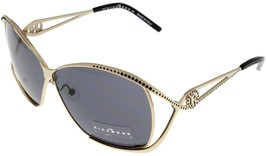 John Richmond Sunglasses Women Gold Swarovski Crystal JR644 02 Designer - $68.31