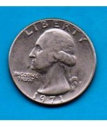 1971-D Washington Quarter - Circulated Moderate Wear About XF - $0.25