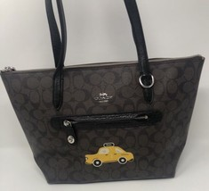 COACH NY Stories Taxi Signature Brown Taylor Tote Bag - $64.34
