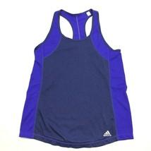 Adidas Women's Blue Tank Top Racerback CLIMALITE Size M Medium Ventilate... - $21.63