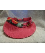 "Woman's Vera Bradley Straw Visor ""Jazzy Blooms"" hook & loop Adjustment - $22.00"