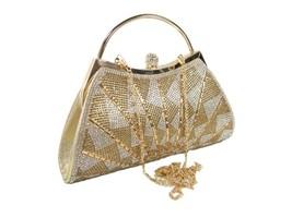 D'margeaux New York Logo Purse CrossBody Hand Bag Wedding Prom Party Gol... - $49.49