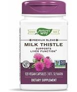 Nature's Way Premium Blend MILK THISTLE Supports Liver Function, 120 Veg... - $29.29