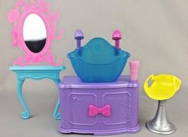 2010 Barbie Doll Hair Tastic Color And Wash Salon Sink Vanity Mirror Cha... - $11.26