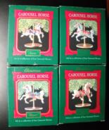Hallmark Cards Christmas Ornaments 1989 Four Carousel Horses Original Boxes - $10.99