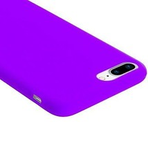 Purple Soft Silicone Rubber Case Flexible Skin Jelly Cover for iPhone 7 Plus image 2