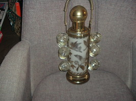 MID CENTURY 1950's Whiskey Decanter Pump Dispenser w/Carrier and Shot Gl... - $55.71