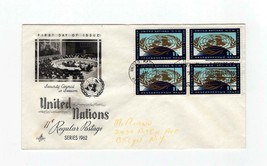 FDC ENVELOPE-UNITED NATIONS 11c REGULAR POSTAGE-RARE 4BL 1962 ARTCRAFT  ... - $1.96