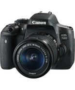 Canon EOS EOS 750D 24.2MP Digital SLR Camera - Black (Kit with 18-55mm L... - $529.00