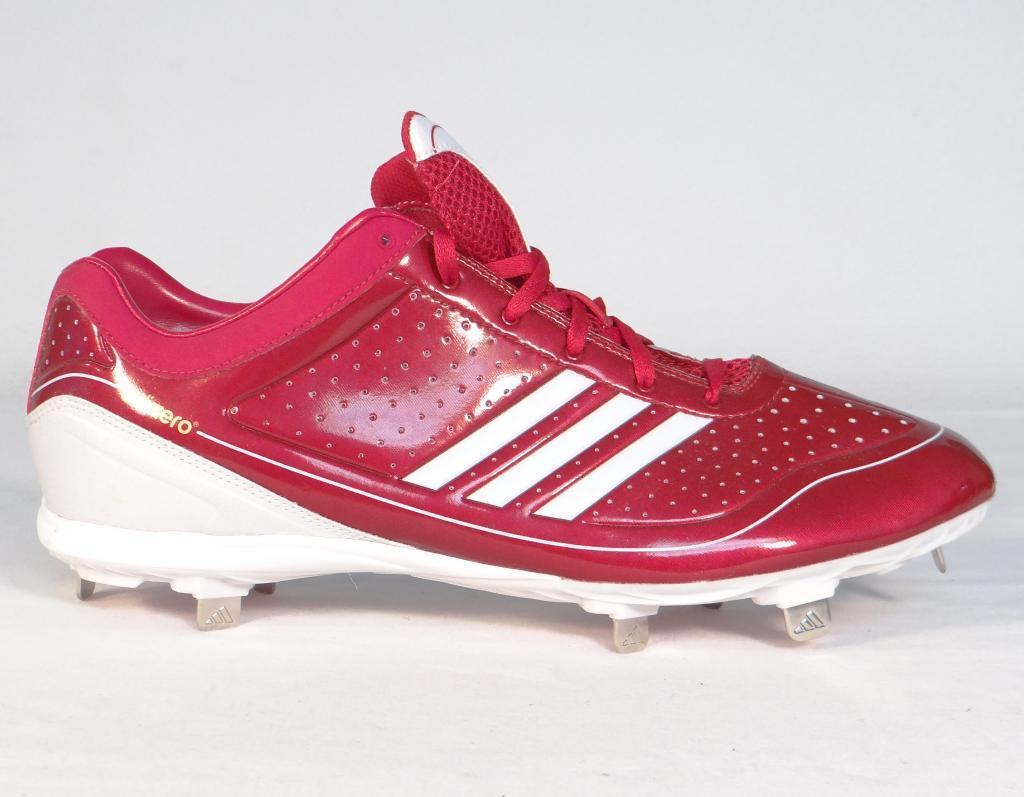 c21feaccadcabe S l1600. S l1600. Adidas AdiZero Diamond King Red Low Metal Baseball  Softball Cleats Mens NEW ...