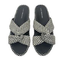Lucky Brand Women's Fynna Synthetic Open Toe Slide Flat SandalS Size 10 - $29.69