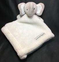 Blankets & Beyond White Grey Elephant Nunu Soft Plush Security Baby Blanket - $29.00