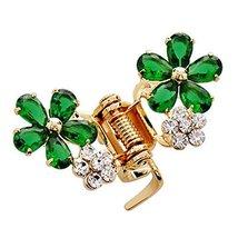 Sweet Flower Hair Claw Fashion Hair Clip Small Size Claw/Hairpin(Green)