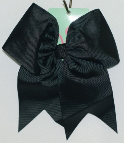 WB M5000BLK Polyester Grosgrain Ribbon Hair Bow Alligator Clip Black