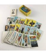 VTG BLUSHING FOOL Miniature Rider Waite Tarot Cards AG Müller Switzerlan... - $74.24