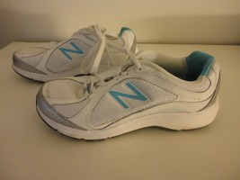 New Balance Womens Blue White Athletic Shoes Sneakers walking strike pat... - $39.59