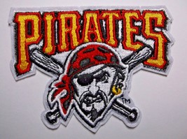 """Pittsburgh Pirates Embroidered PATCH~3 7/8"""" x 3""""~Iron Sew On~MLB~Ships FREE - $4.45"""