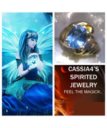 Haunted RING NEW YEAR AHEAD BLUE FAIRY SPIRIT VESSEL MAGICK WITCH CASSIA4 - $89.77
