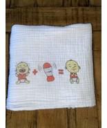 Baby Shusher Swaddle Blanket Muslin Cotton White The Sleep Miracle - $7.92