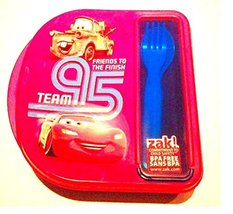 Cars Lunch Box Set PBA Free Fork Spoon Included Zak - $6.17