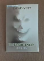 THE FRIGHTENERS MOVIE PROMO RECTANGULAR PINBACK BUTTON 1996, EXCELLENT C... - $11.88