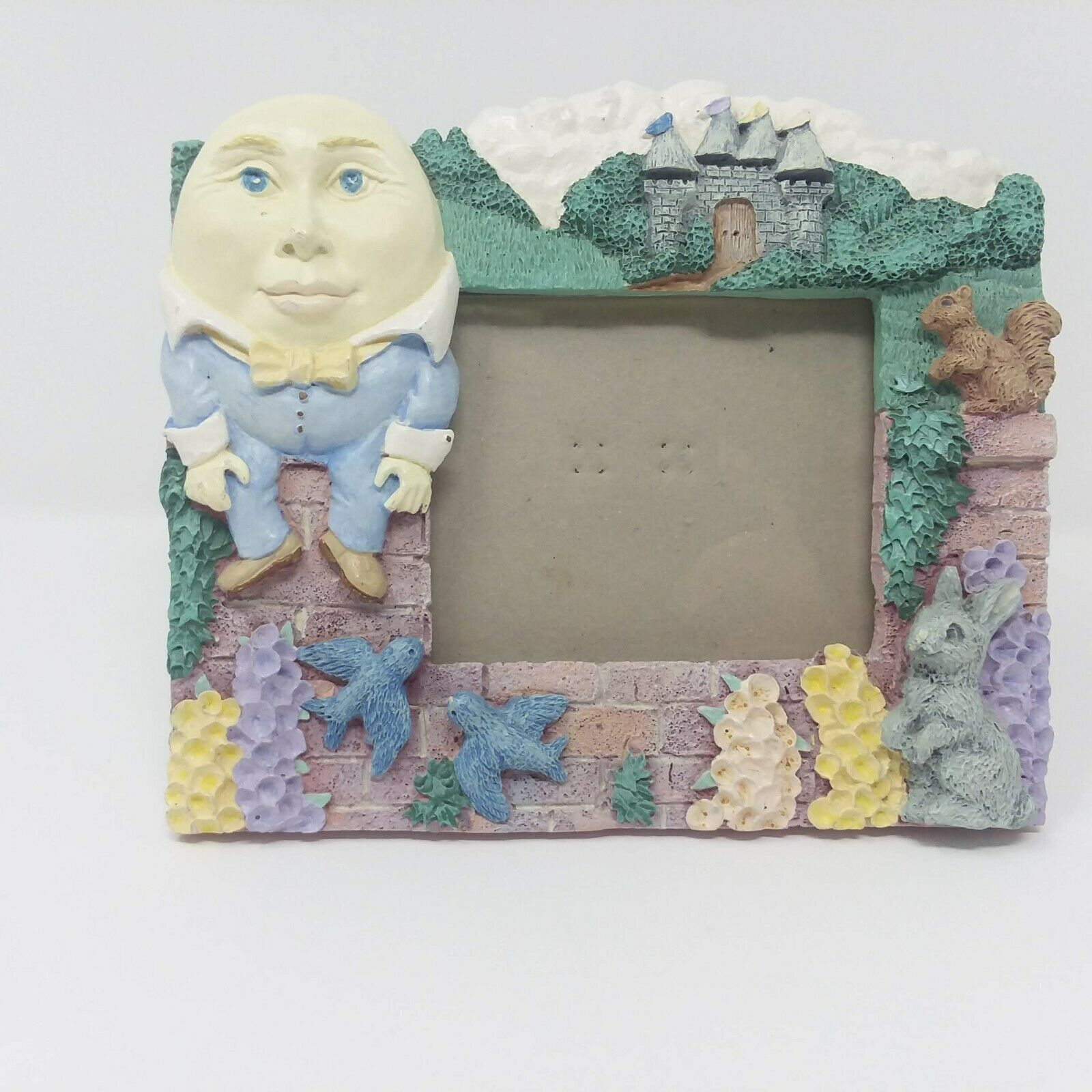 Primary image for Humpty Dumpty Vintage 3.5 x 5 Photo Frame Nursery Rhyme Decor EUC Picture