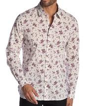 John Varvatos Star USA Men's Long Sleeve Floral Button Front Shirt Antique Rose - $64.12