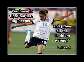 Carli Lloyd Girls Soccer Motivation Poster PROVE DOUBTERS WRONG Quote Wa... - $17.99+