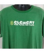 Element Mens XXL Tee Shirt Green Ringer Neck Short Sleeve Graphic Skater - $29.99