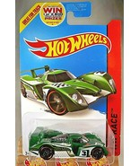 2014 Hot Wheels #164 HW Race-Track Aces 24 OURS Green/White Variant w/Bl... - $7.50