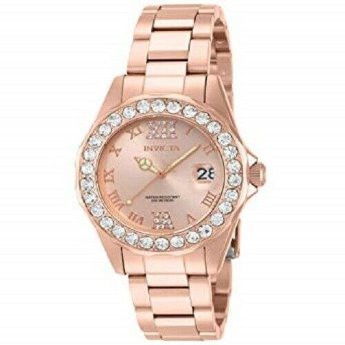 Invicta Women's Ladies Watch Pro Diver Quartz Stainless Steel Rose Gold IP Plate - $99.99