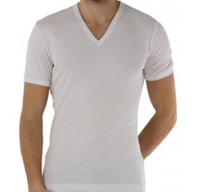 Dolce & Gabbana T-shirt V neck White RIBBED stretch cotton new D&G t-shi... - $57.42