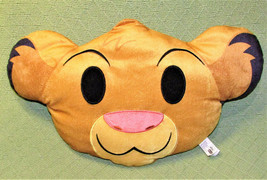 "17"" DISNEY EMOJI LION KING PILLOW PLUSH STUFFED ANIMAL SIMBA JUST PLAY C... - $11.75"