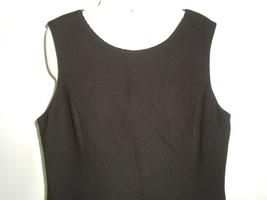 Women's Petite Sophisticate Black Shift Dress Sz 12 Vtg 90s LBD Beaded Neckline image 2