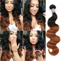 8A Ombre Brazilian Body Wave Remy Hair 1 Bundles T1B/30 Human Hair Exten... - $7.21+