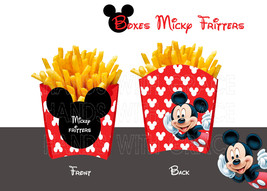 """PRINTABLE FRENCH FRIES BOX """"MICKEY MOUSE"""" (Limited time discount 50%) - $3.00"""