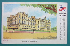 GREGOIRE BISCUITS & St. Germain Palace View - c 1960 Ink Blotter Adverti... - $4.49