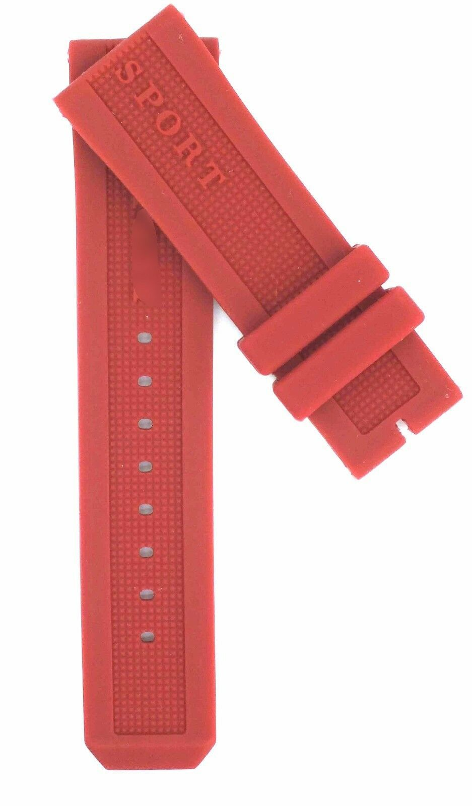 Compatible Burberry Sport BU7706 23mm Red Diver Rubber Watch Strap BRR100