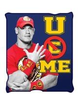 New John Cena WWE Fleece Throw Gift Blanket U Can't See Me Wrestler Wres... - $33.65