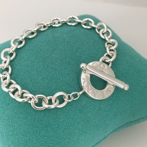 "7.75""  Tiffany & Co Sterling Silver Toggle Bracelet Circle Clasp - $199.00"