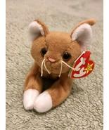Ty Beanie Baby Nip The Cat Plush Toy PVC Pellets Error - $9.89